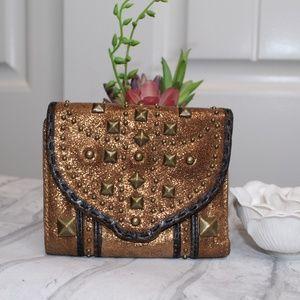 Stylish Unique Gold Betsy Johnson Wallet